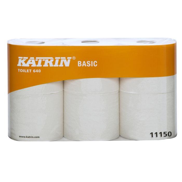 Toiletpapir 1-lags natur 9,70 cm x 80 meter - 640 ark