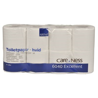 Toiletpapir, 2-lags, hvid, 9,80 cm x 33,75 m, 250 ark,