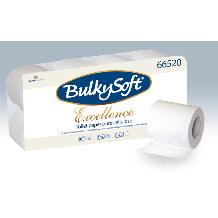 BulkySoft 66520 Excellence 3 lags toiletpapir 29 meter - 72 ruller
