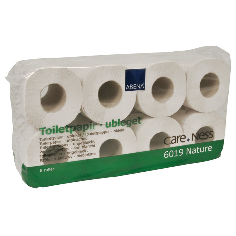 Toiletpapir, Care-Ness Nature, 2-lags, natur, 9,75 cm x 31,25 m, 250 ark,
