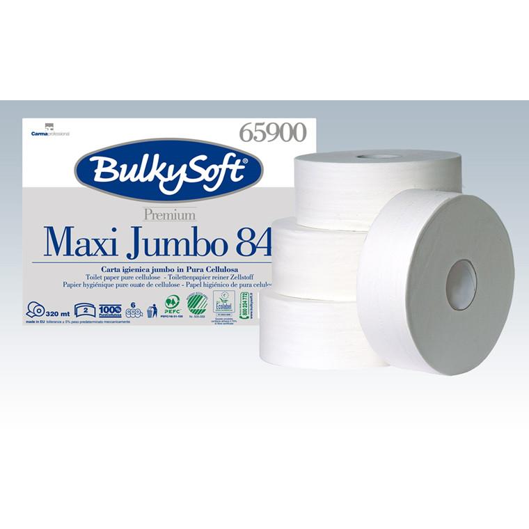 BulkySoft 65900 Premium Maxi Jumbo 842 Toiletpapir 2 lags 320 meter - 6 ruller