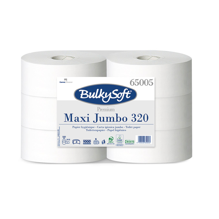 Toiletpapir Gigant M Bulky Soft 2-lags hvid 320m 6rul/kar