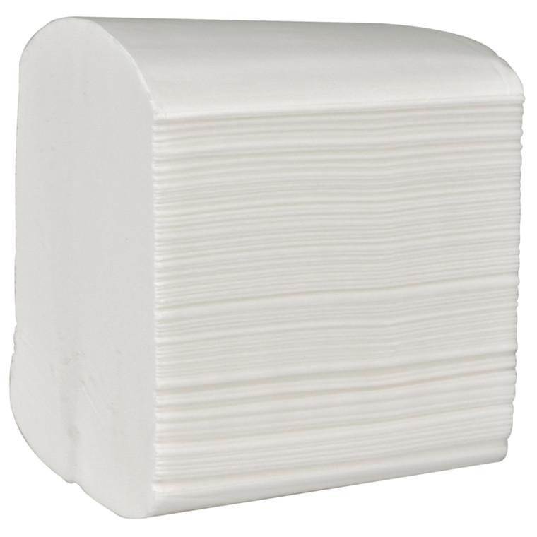 Toiletpapir hvid i ark 2-lags 19 x 11 - neutral