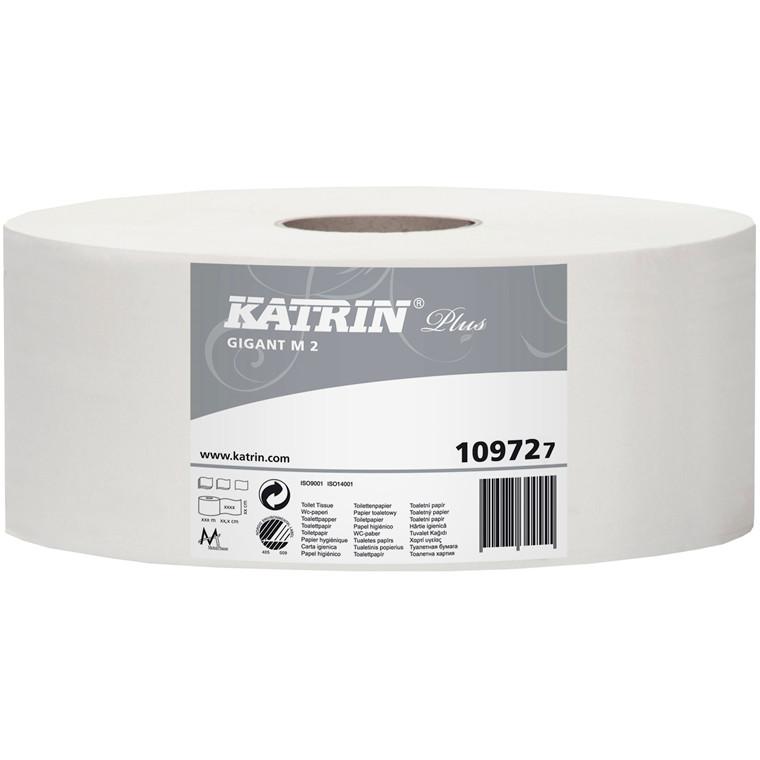 Katrin 109724 Plus Gigant M Toiletpapir 2 lags 310 meter - 6 ruller