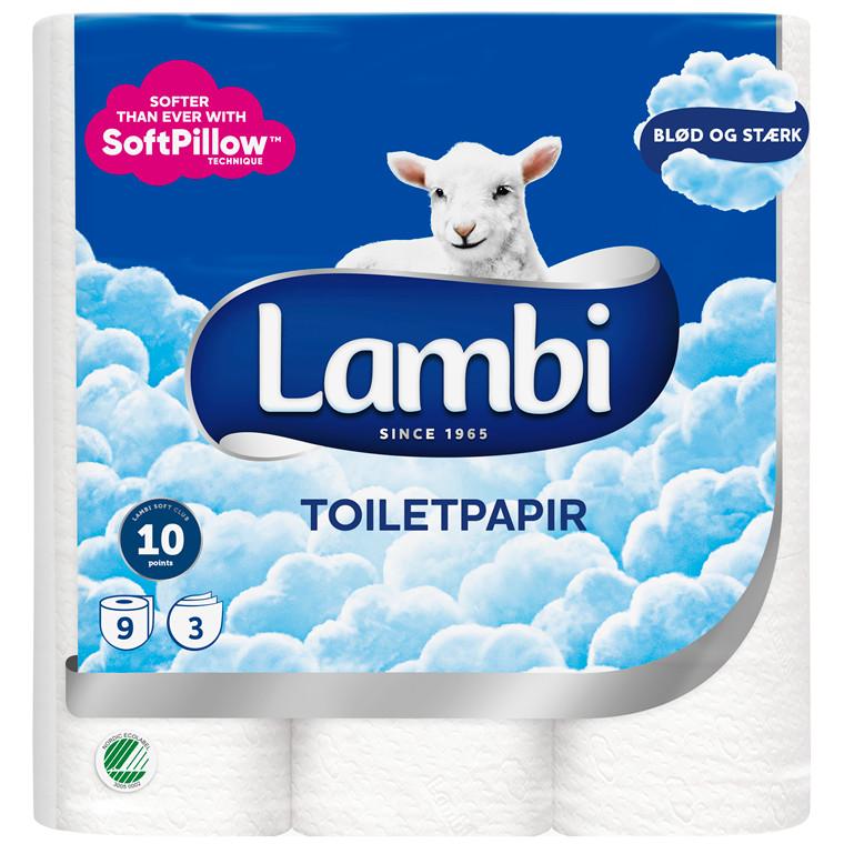 Toiletpapir Lambi 3-LAGS 21,25M 27651 36rle/krt