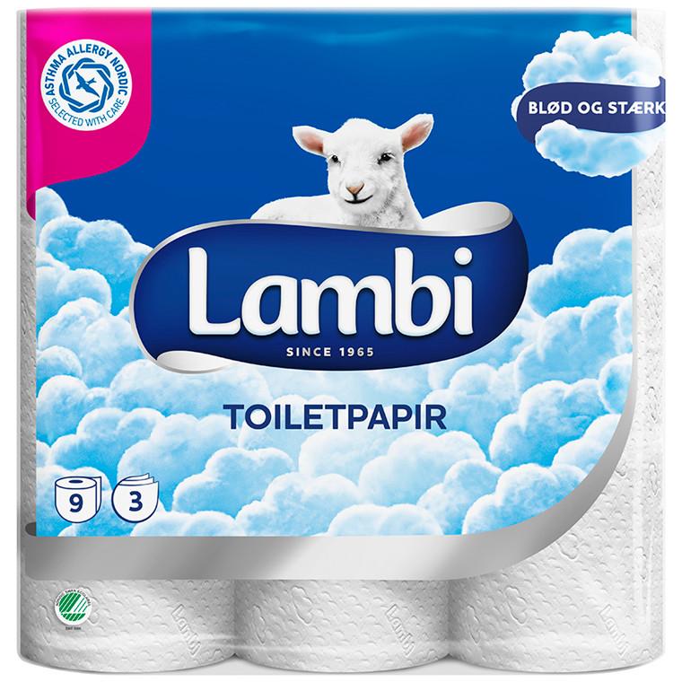 Toiletpapir Lambi 3-lags 21,25m 41479 63rul/kar
