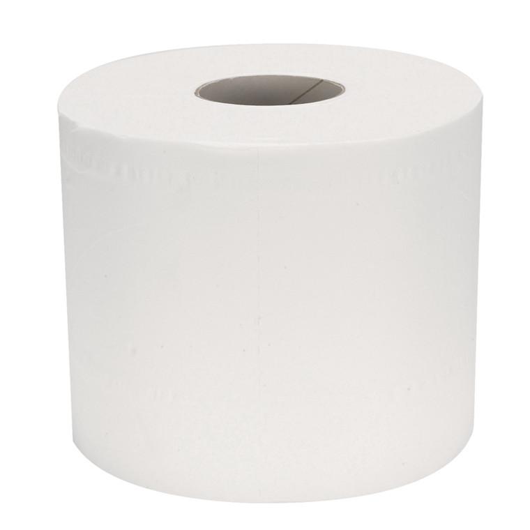 Toiletpapir neutral 2-lags hvid 33,75 meter x 9,8 cm Ø 10 cm - perforeret for hver 13,5 cm