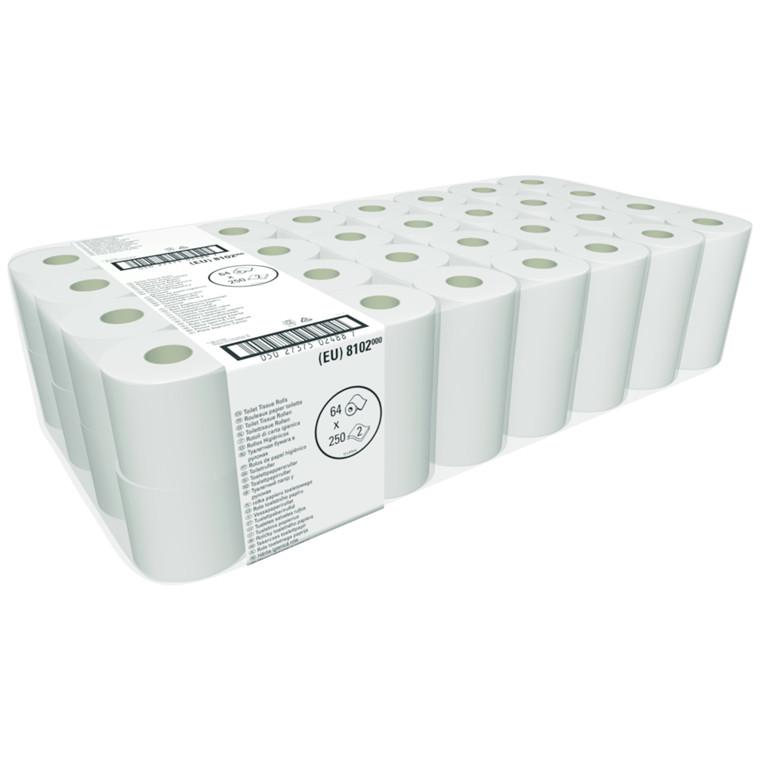 Toiletpapir Neutral 2-lags hylse 45 mm hvid 9,50 cm x 30 meter - 250 ark