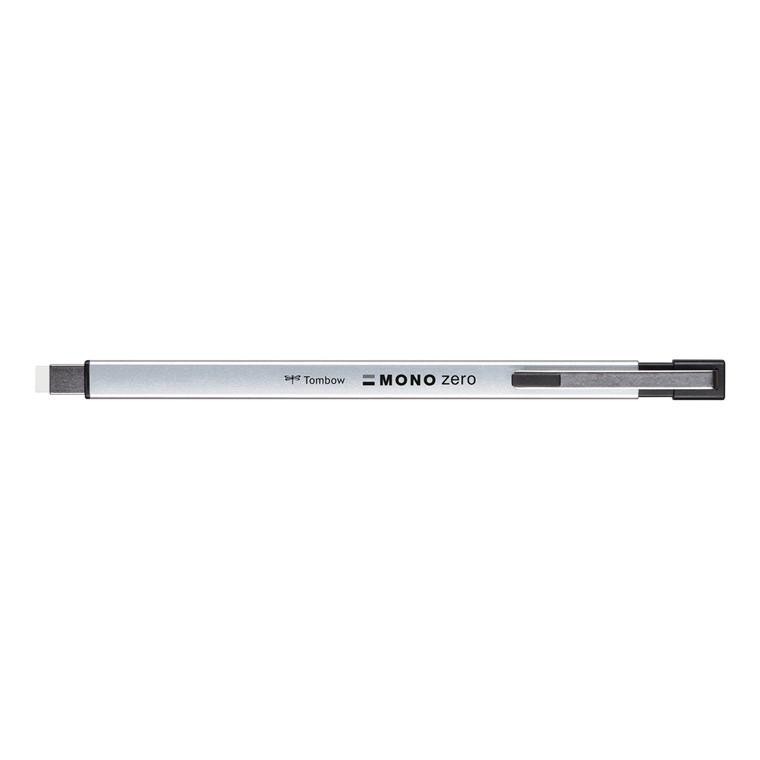 Tombow Viskelæder pen MONO zero metal sølv