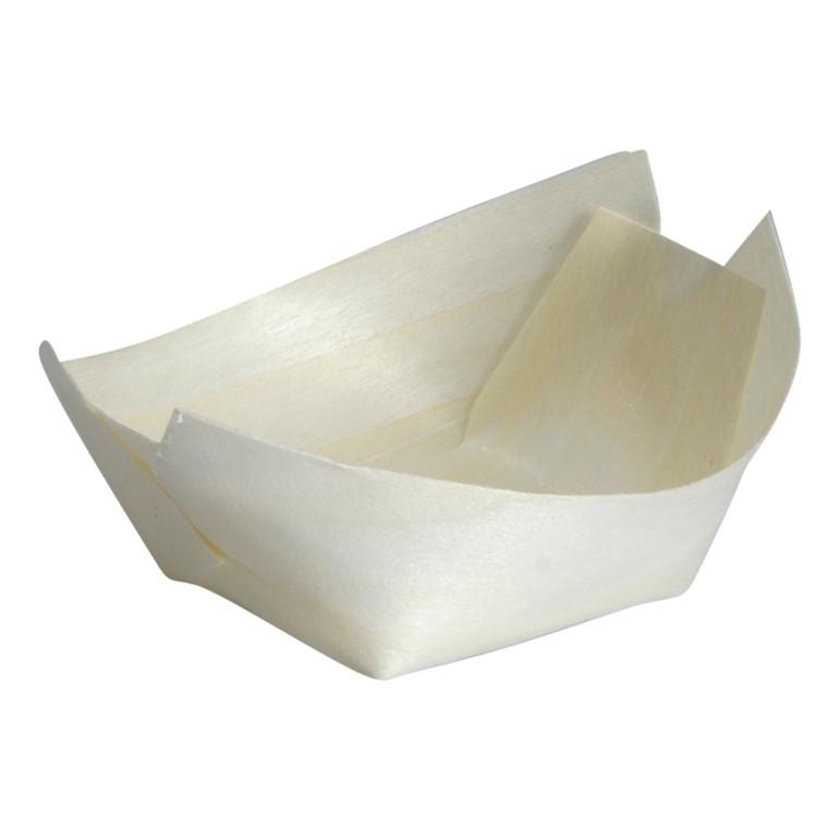 Træbåd, brun, træ, 5,50x7 cm, FSC 100% NC-COC-014610