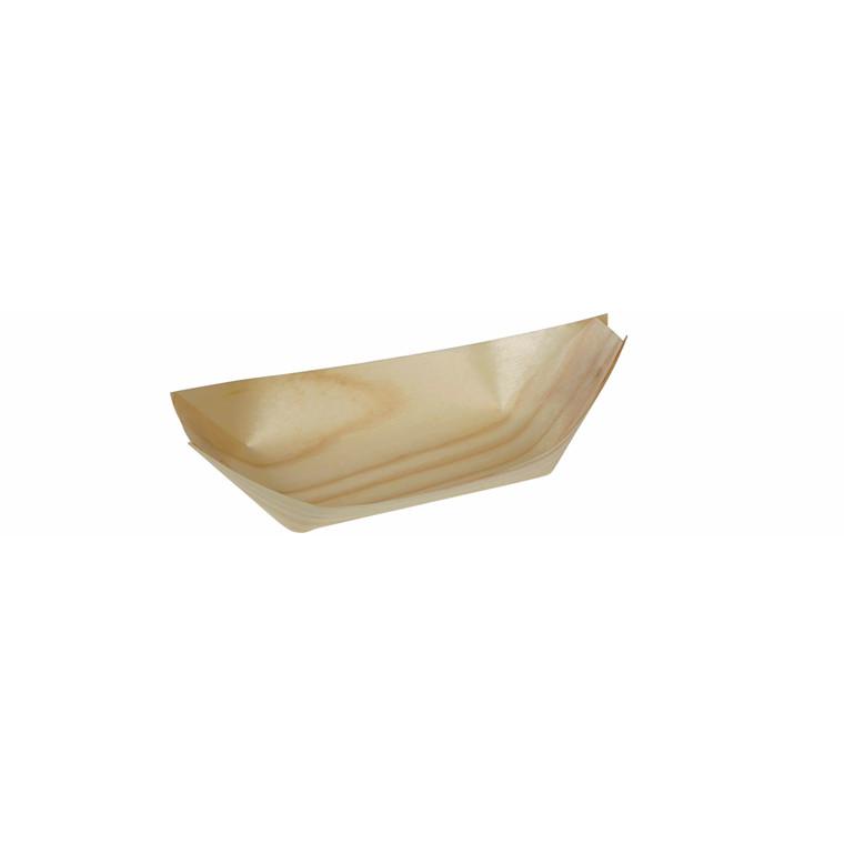 Træbåd fyrrespån 24 cm - 100 stk.