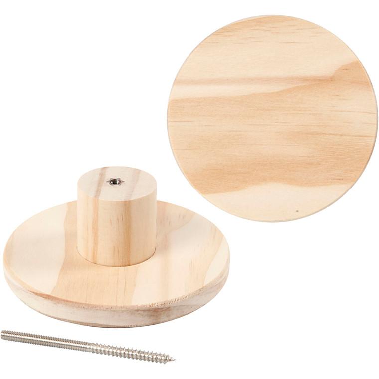 Træknage diameter 11 cm dybde 4,5 cm fyr | rund