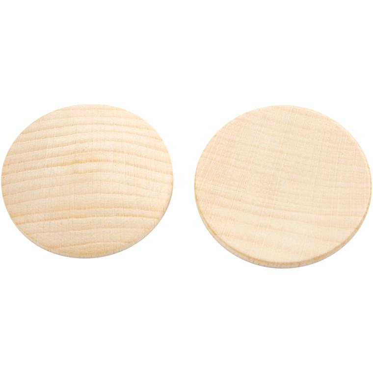 Træknap diameter 40 mm tykkelse 6 mm kinesisk bærtræ | 10 stk.