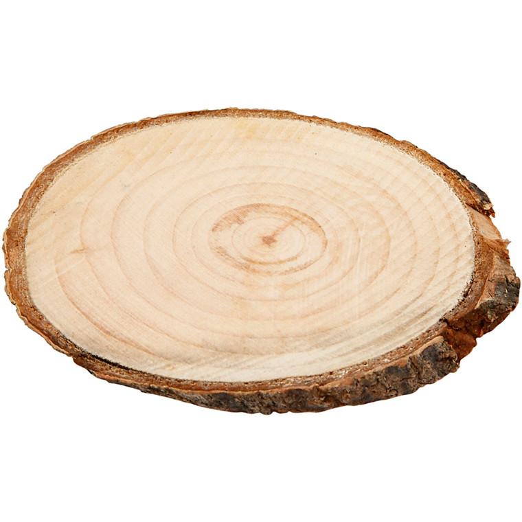 Træskiver cirka 9,5 x 6 cm tykkelse 6 mm | 12 stk.