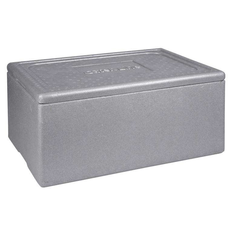 Transportkasse, grå, til gastronorm bakker, EPS, 43 l