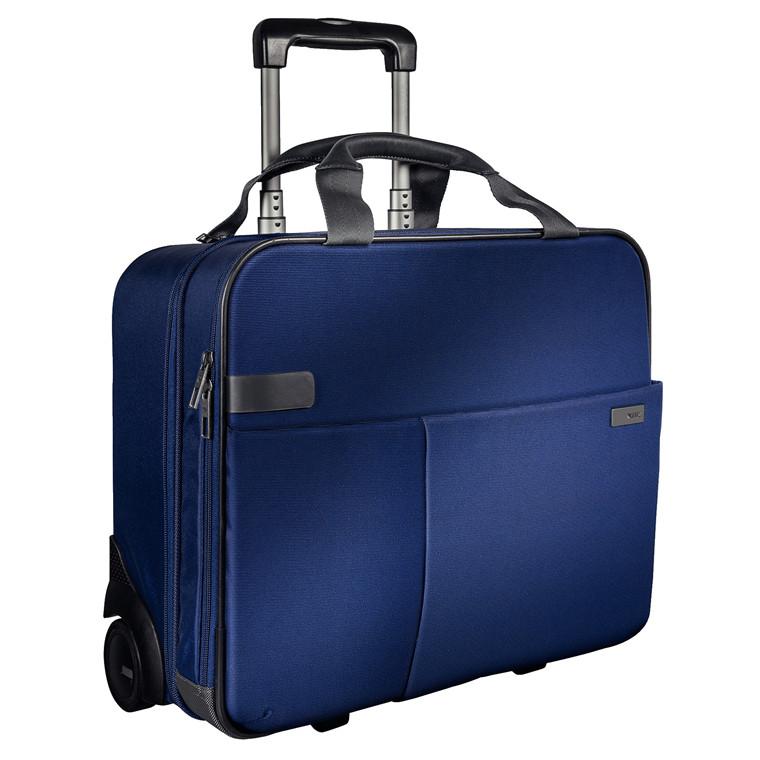 Trolley Leitz Smart Traveller 2 hjul blå