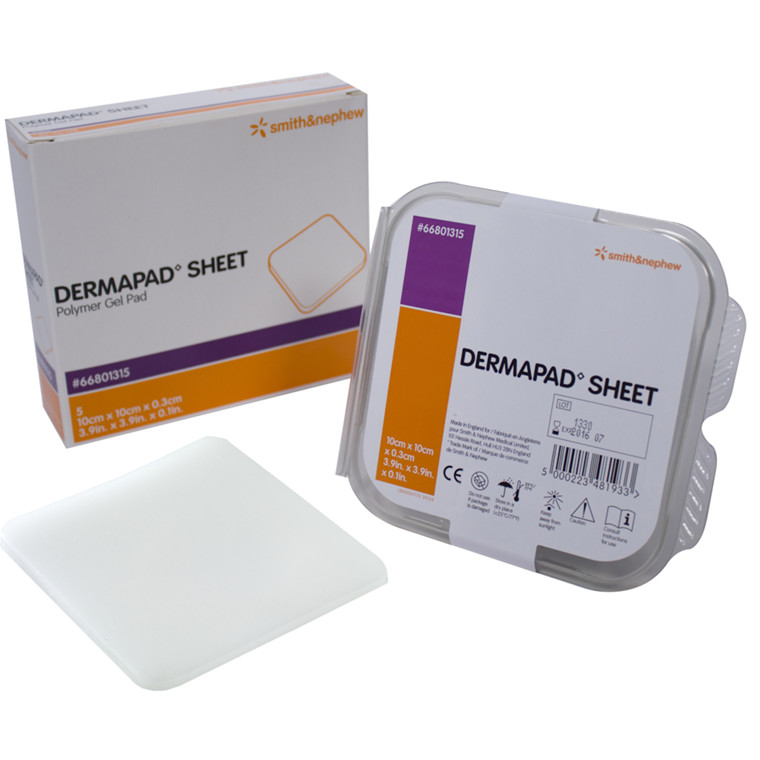 Trykaflastning, DermaPad, gelpude, 10x10x0,30 cm