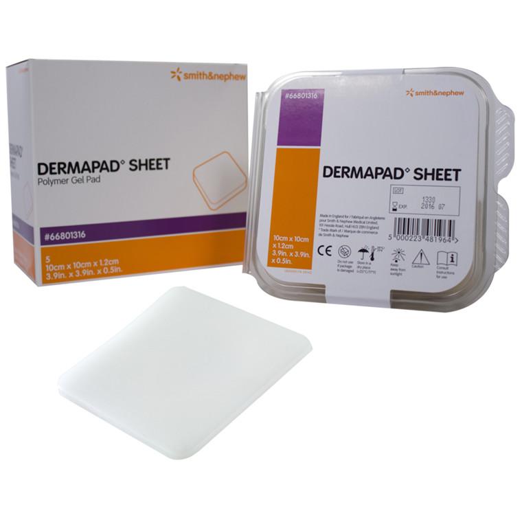 Trykaflastning, DermaPad, gelpude, 10x10x1,20 cm