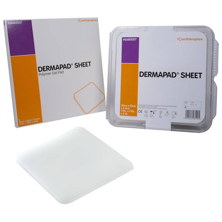Trykaflastning, DermaPad, gelpude, 20x20x0,30 cm