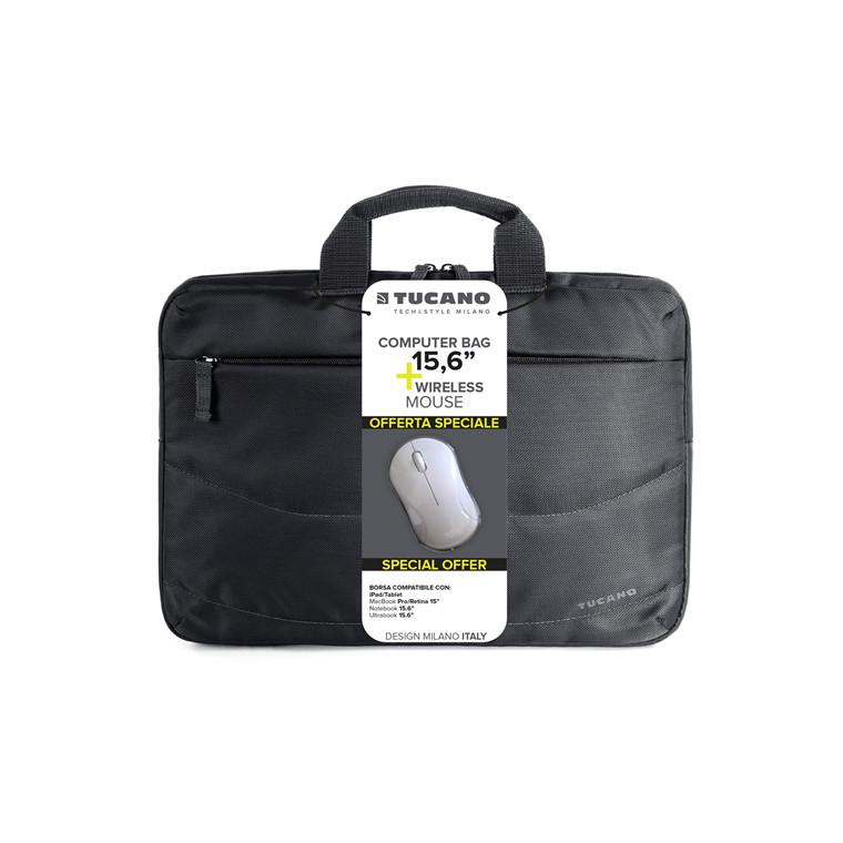 Tucano Bag bundle Idea 15,6'' notebook w/mouse black