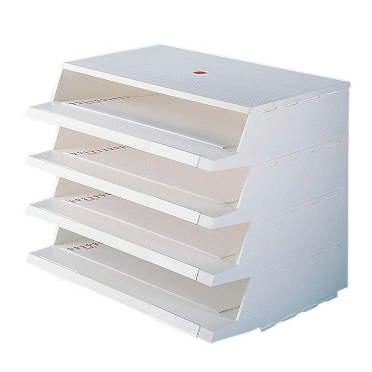Twin Panorama brevbakkesystem A4 hvid - 4 stk brevbakker i pakke