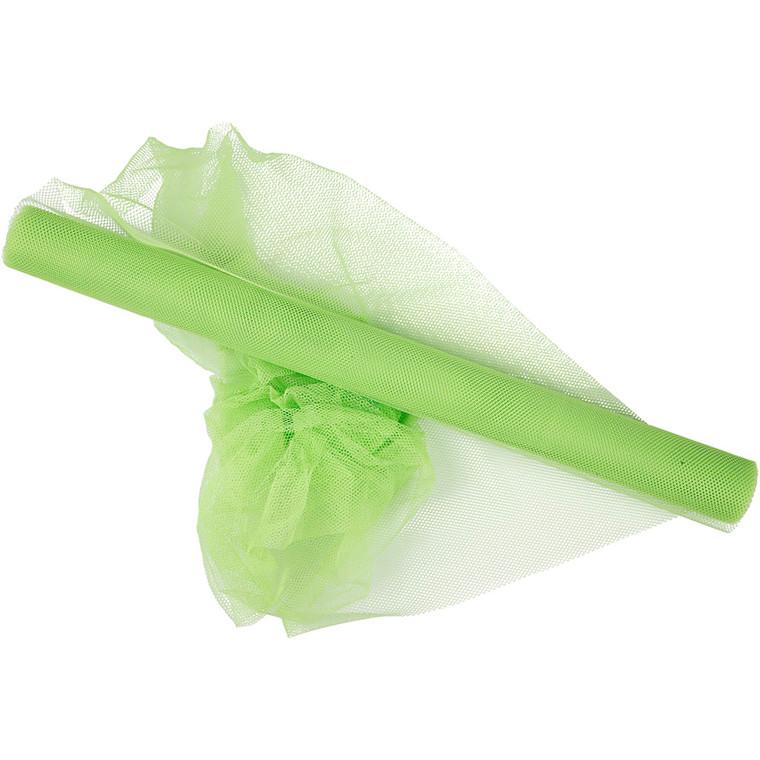 Tyl, B: 50 cm, neon grøn, 5m