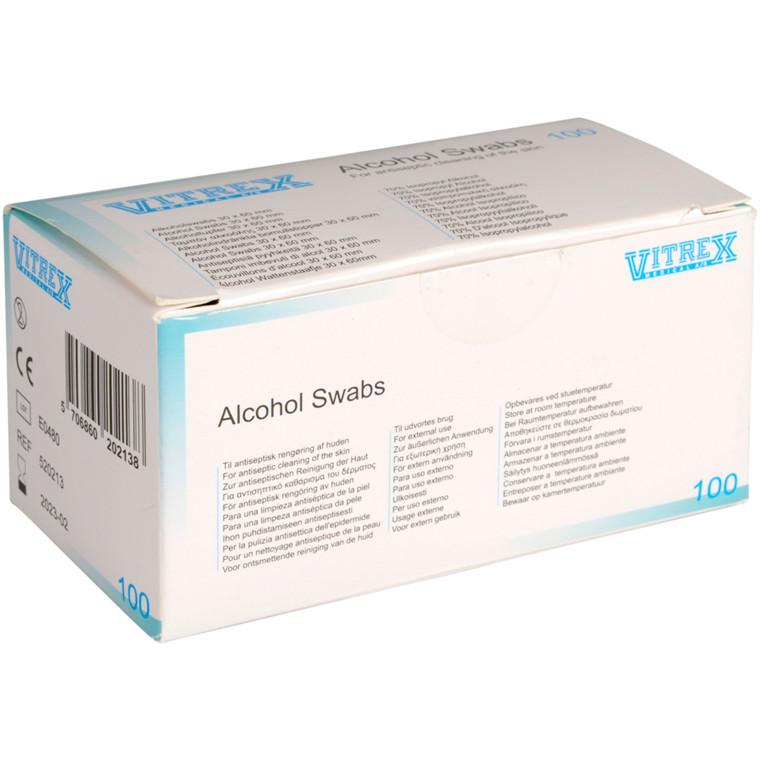UDSOLGT Injektionsserviet, Vitrex, 6x3cm, enkeltpakket, engangs