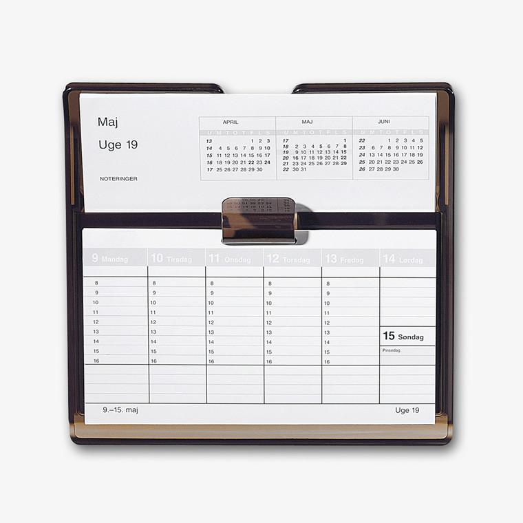 Uge bordkalender Flip-A-Week 18x10cm ekskl. stativ 1360 00