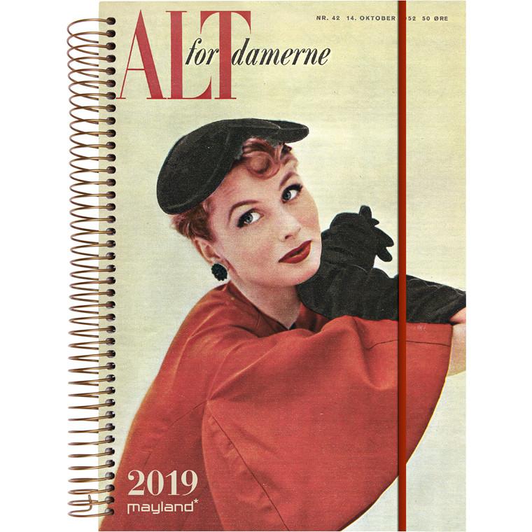 Ugekalender Mayland 2019 A5 ALT for damerne med illustration 15 x 21 cm højformat - 19 2275 00