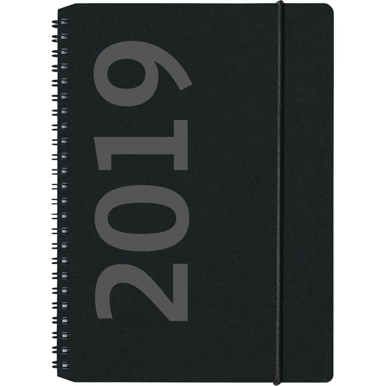 Kalenderbog 2019 Ugekalender Mayland A5 matsort 15 x 21 cm - 19200500