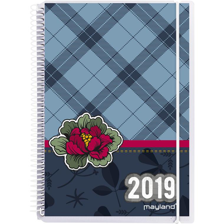 Ugekalender Mayland 2019 A5 Senator hård PP med 4 illu. 15 x 21 cm tværformat - 19 2008 00