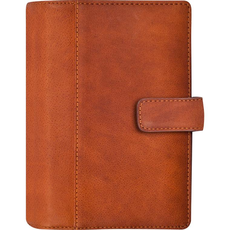 Ugekalender Mayland 2019 System Mini brun skind 8 x 12,6 cm tværformat - 19 3523 00
