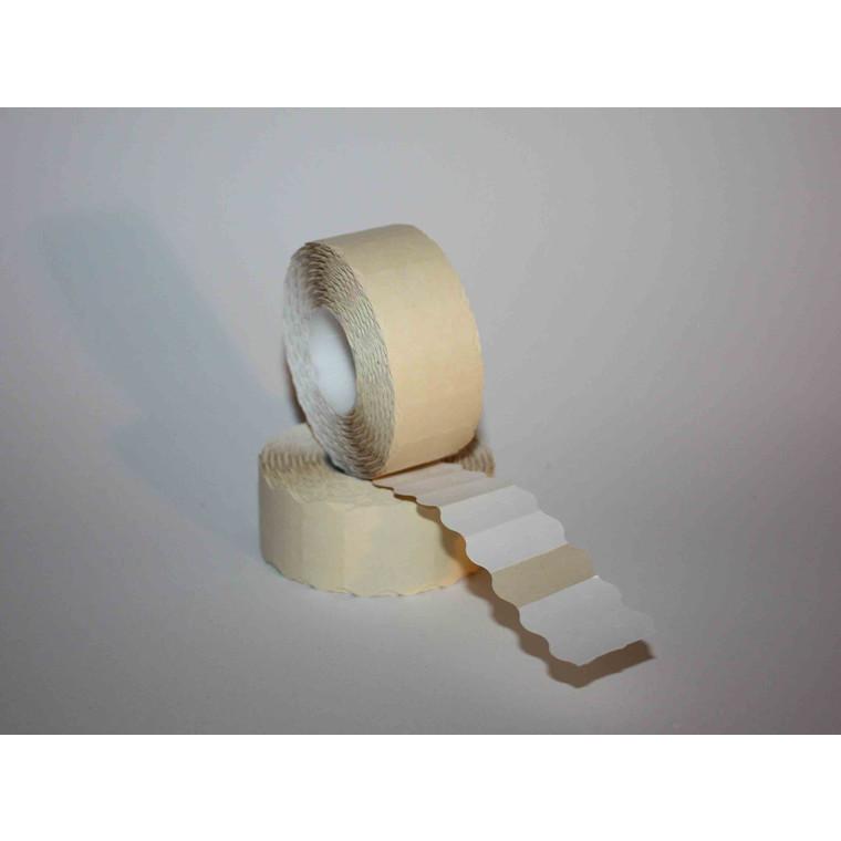 Prismærke 26 x 12 mm hvide med permanent klæb -  6 ruller