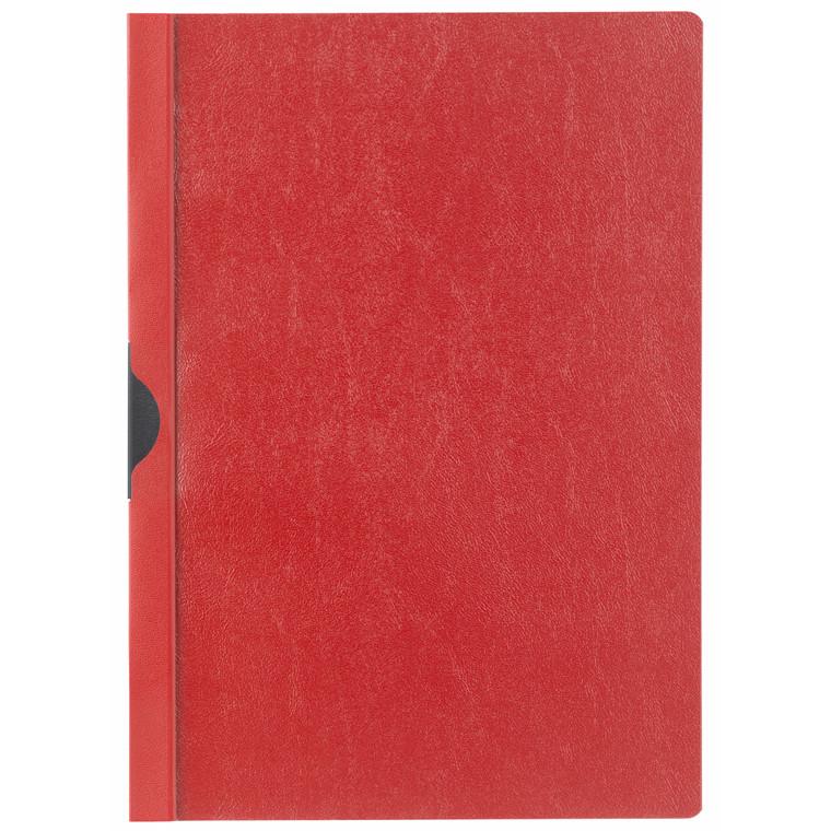 Universalmappe niceday rød A4 m/metalskinne 180654 3mm