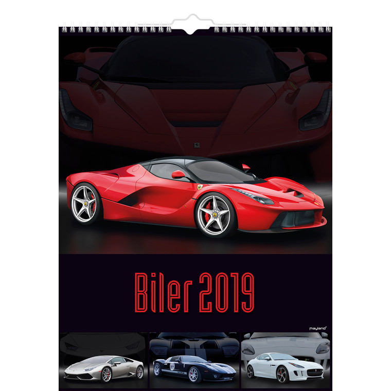 Mayland Vægkalender 2019 Biler 29,5 x 39 cm - 19 0664 70