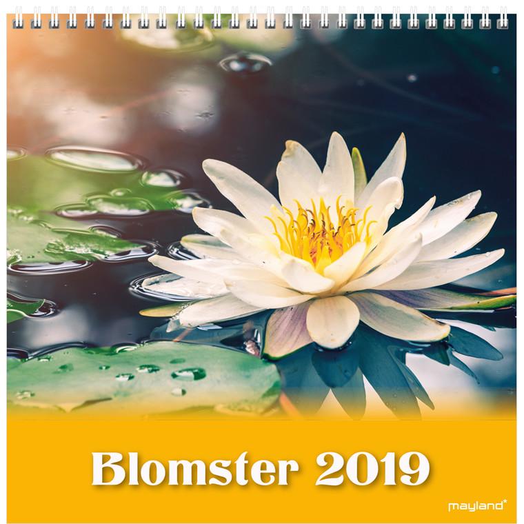 Mayland Vægkalender 2019 Blomster 16 x 16 cm - 19 0664 20