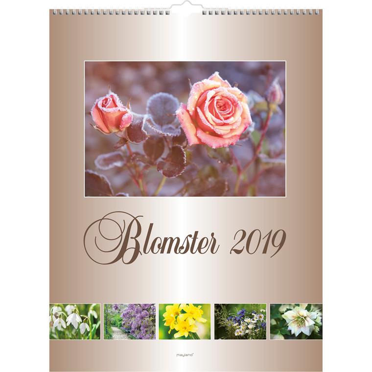 Mayland Vægkalender 2019 Blomster 29,5 x 39 cm - 19 0663 30