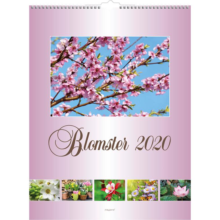 Vægkalender Blomster 30x39cm 20 0663 30