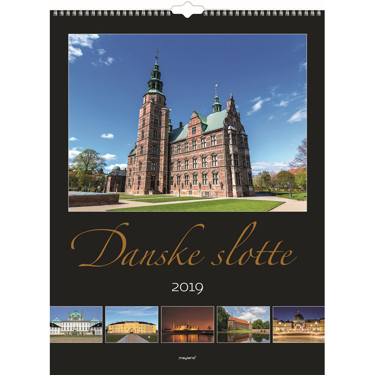 Vægkalender 2019 med danske slotte 29,5 x 39 cm - 19066200
