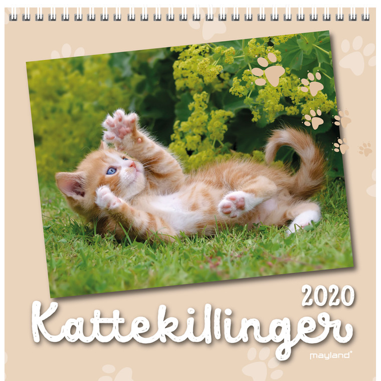 Vægkalender Kattekillinger 16x32cm 20 0664 00