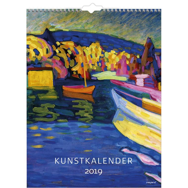 Mayland 2019 Vægkalender Kunst 29,5 x 39 cm -  19 0661 50