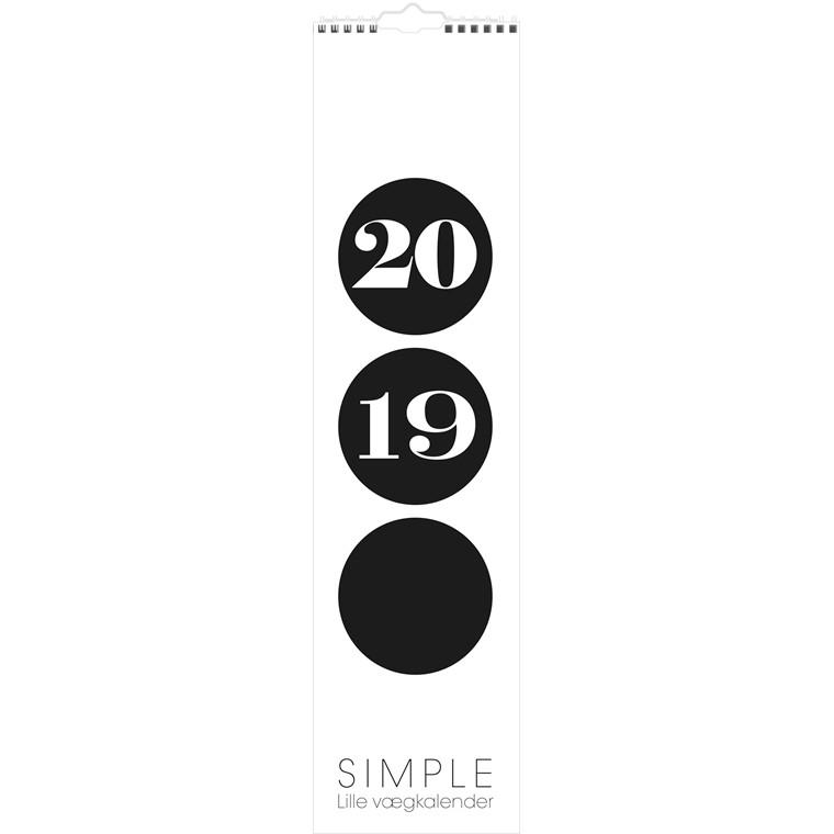 Mayland 2019 Vægkalender Simple 11 x 43 cm - 19 0664 50