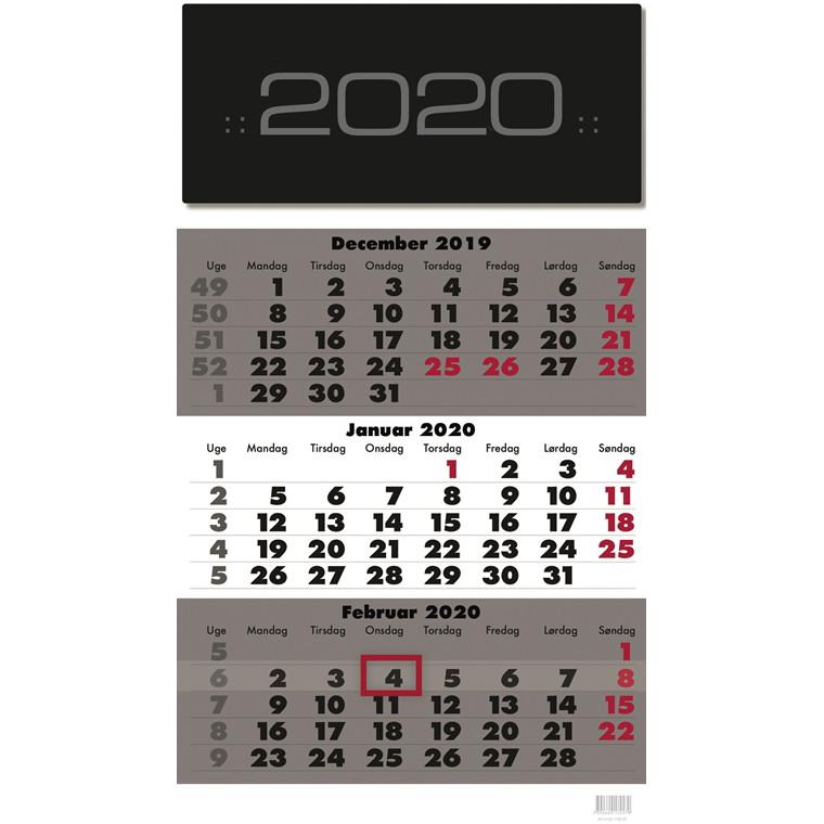Vægkalender Triplanner 28,5x50cm 20 0666 40