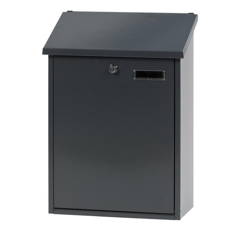 Vægmonteret postkasse large, klar til vægmontering, antracit,