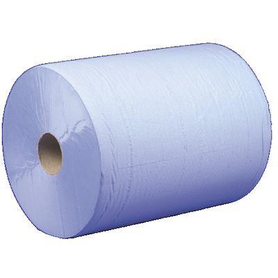 Værkstedsrulle, 2-lags, blå, 37 cm x 380 m
