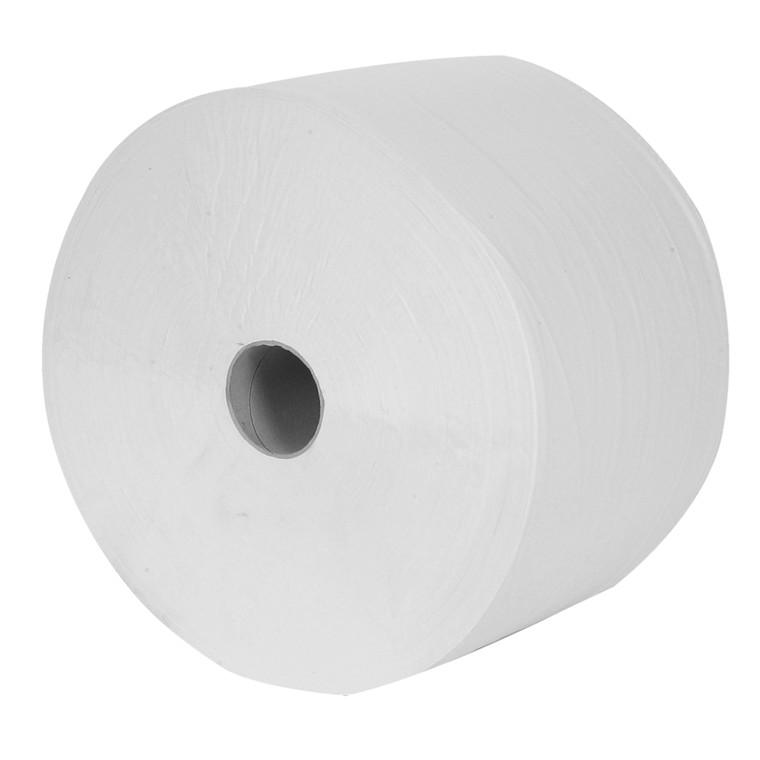 Værkstedsrulle, 4-lags, 360m x 24cm, Ø34cm, hvid, 100% nyfiber