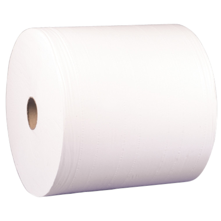 Værkstedsrulle, 4-lags, 360m x 37,7cm, Ø34cm, hvid, 100% nyfiber