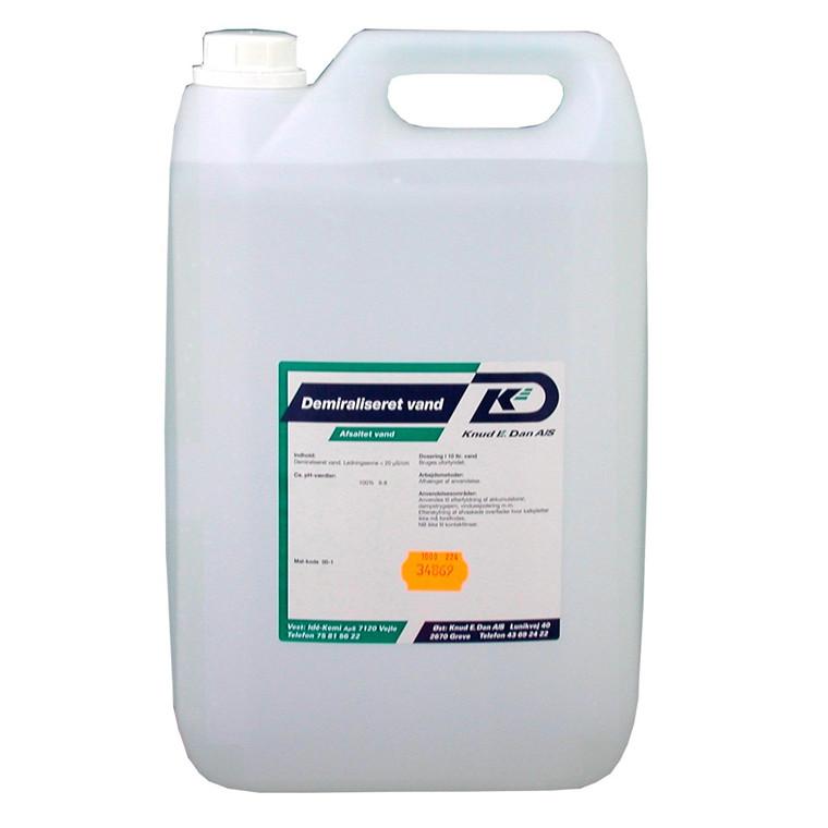 Demineraliseret vand - Afsaltet vand - 10 liter dunk