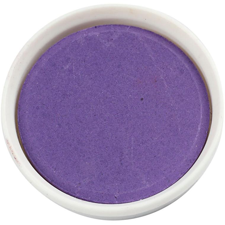 Vandfarve, dia. 30 mm, violet, 12stk.