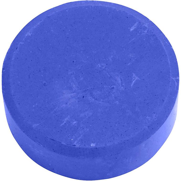 Vandfarve, dia. 57 mm, blå, refill, 6stk.